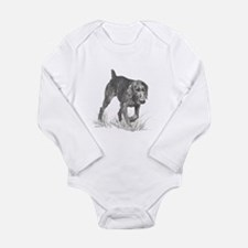 German Wire Hair Pointer Long Sleeve Infant Bodysu