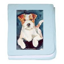Jack Russell Terrier 2 baby blanket