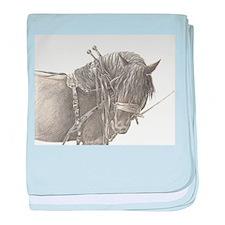 Draft Horse baby blanket
