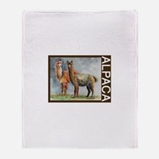 Alpaca Pair Throw Blanket