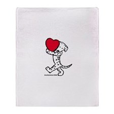 Dalmatian Valentine Throw Blanket