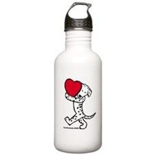 Dalmatian Valentine Water Bottle
