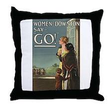 Cute War on women Throw Pillow