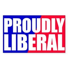Proudly Liberal Rectangle Decal