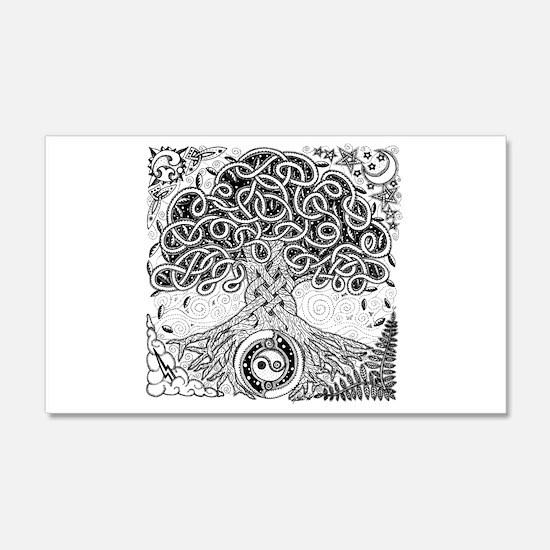 Celtic Tree of Life Ink 22x14 Wall Peel