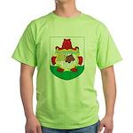 Bermuda Coat Of Arms Green T-Shirt