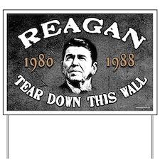 Reagan Tear Down This Wall Yard Sign