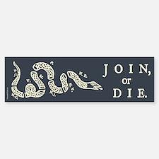 Join or Die Bumper Bumper Sticker