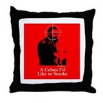 Castro - A Cuban I'd Like to Smoke Throw Pillow