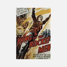 King of the Rocket Men Sci Fi Film Poster Magnet