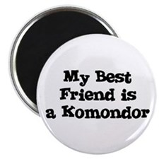 My Best Friend is a Komondor Magnet
