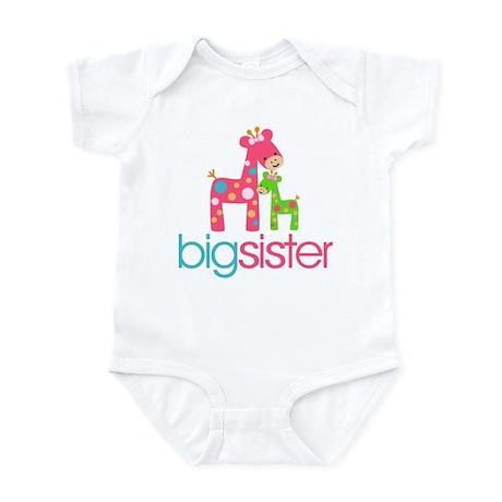 Funky Giraffe Big Sister Infant Bodysuit
