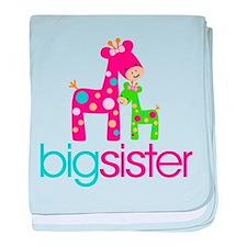 Funky Giraffe Big Sister baby blanket