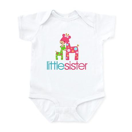Funky Giraffe Little Sister Infant Bodysuit