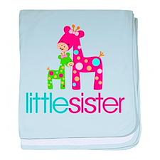 Funky Giraffe Little Sister baby blanket