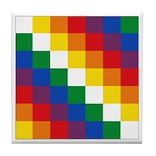 Bolivia Wiphala Tile Coaster