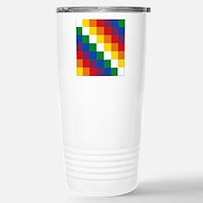 Bolivia Wiphala Travel Mug