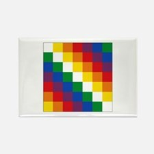 Bolivia Wiphala Rectangle Magnet (100 pack)