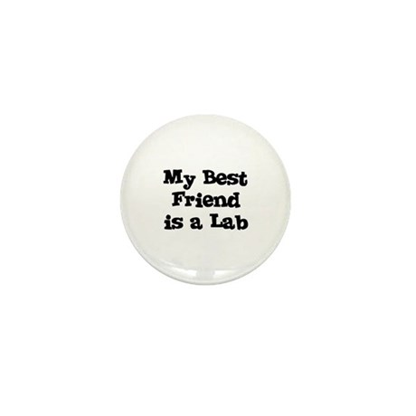 My Best Friend is a Lab Mini Button