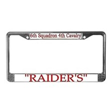 6th Squadron 4th Cavalry License Plate Frame