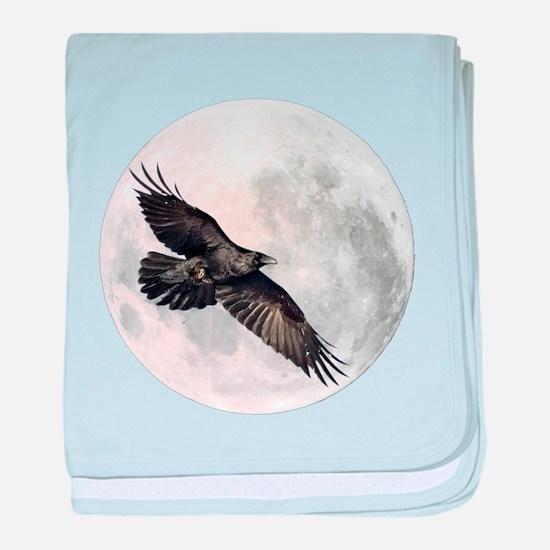 Flying Crow baby blanket