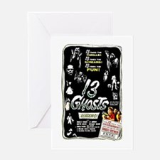 13 Ghosts Retro Horror Film Poster Greeting Card
