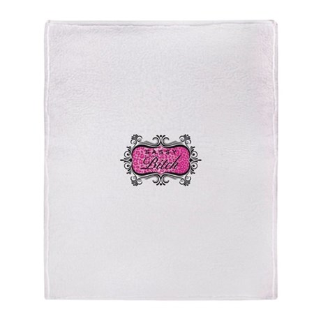 Pink Sassy Bitch Throw Blanket