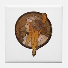 Cute 1800 woman Tile Coaster
