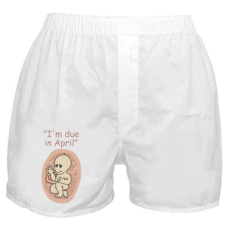 Baby due in April Boxer Shorts