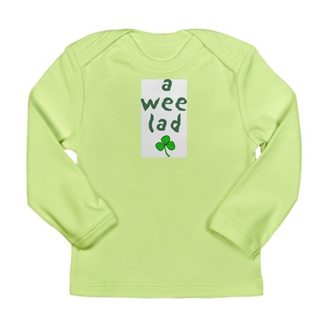 a wee lad Long Sleeve Infant T-Shirt