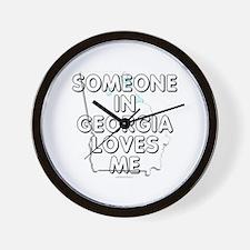 Someone in Georgia Wall Clock
