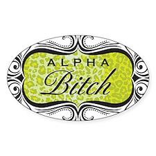 Lime Green Alpha Bitch Decal