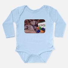 Sedona Weimaraner 8 Long Sleeve Infant Bodysuit