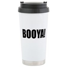 BOOYA! black text Travel Mug