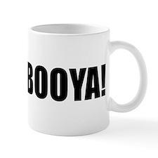 BOOYA! black text Small Mugs