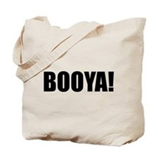 BOOYA! black text Tote Bag