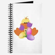 Ducky with tulips and eggs Journal