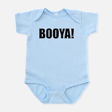 BOOYA! black text Infant Bodysuit