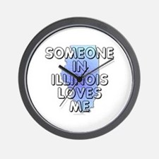Someone in Illinois Wall Clock