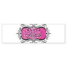 Pink Bossy Bitch Car Sticker