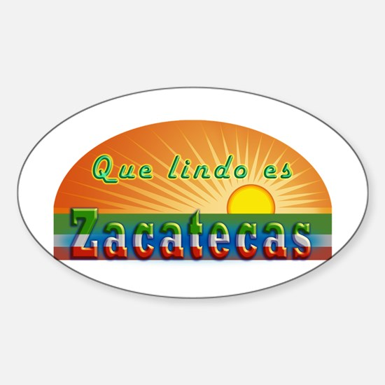 Lindo Zacatecas Sticker (Oval)