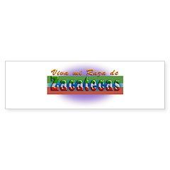 Mi Raza de Zacatecas Bumper Sticker
