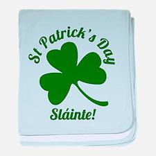 St Patrick's Day Sláinte baby blanket