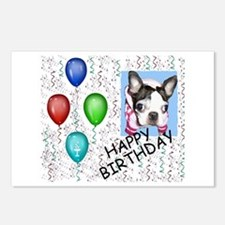 HAPPY BIRTHDAY BOSTON TERRIER Postcards (Package o