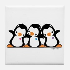 Penguins (together) Tile Coaster