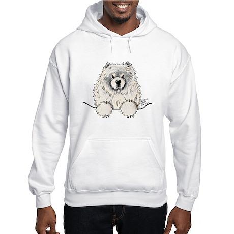 Cream Pocket Chow Chow Hooded Sweatshirt