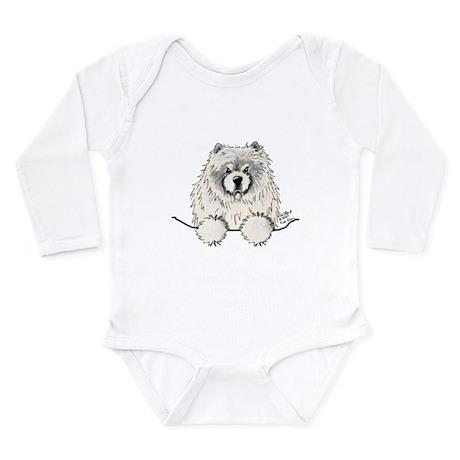 Cream Pocket Chow Chow Long Sleeve Infant Bodysuit