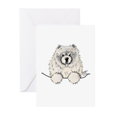 Cream Pocket Chow Chow Greeting Card
