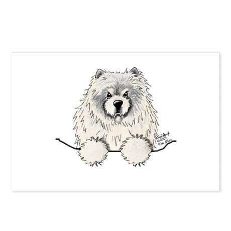 Cream Pocket Chow Chow Postcards (Package of 8)