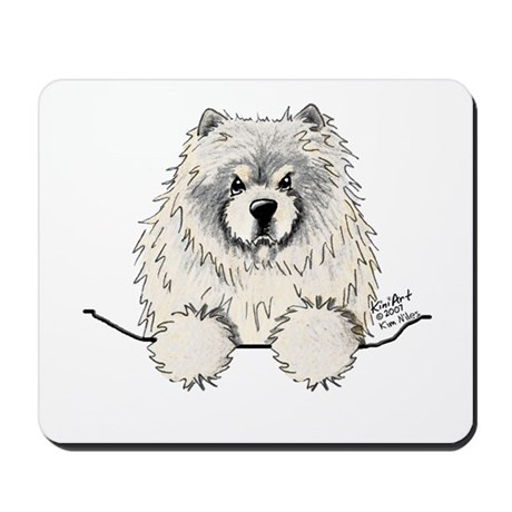 Cream Pocket Chow Chow Mousepad
